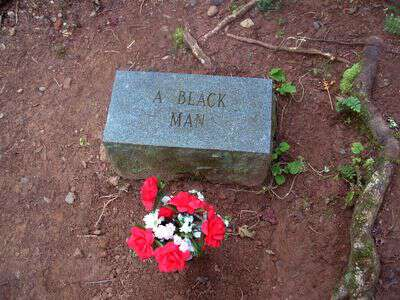 A black man buried at hazel creek