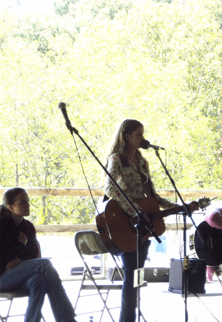 Chitter singing at the JCCFS Fall Festival