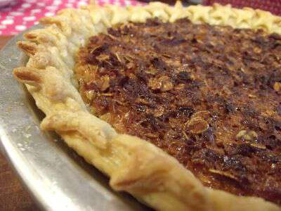 Star studded mock pecan pie