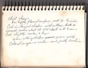 Granny's recipe for sugar cookies