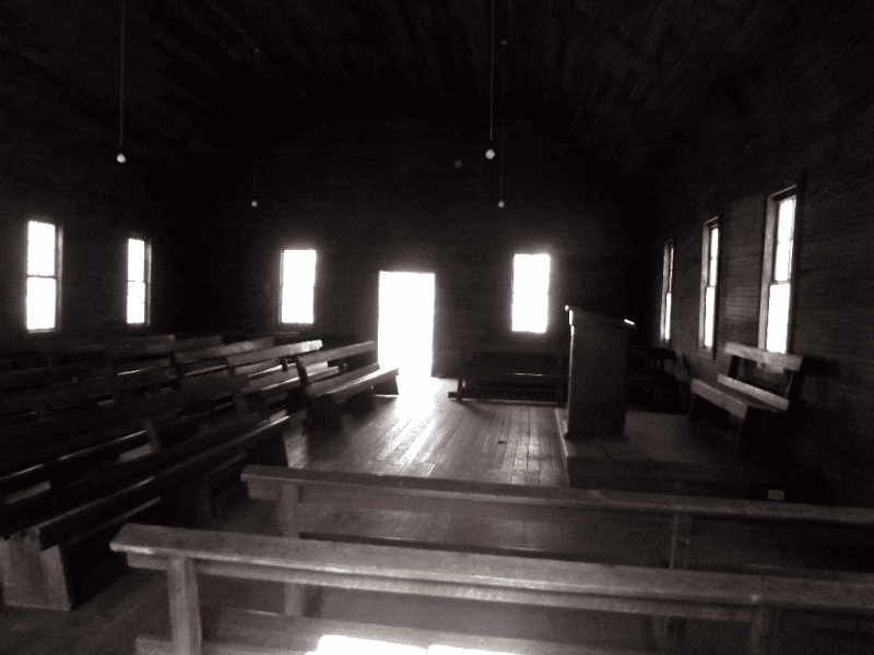 Inside lufty baptist church
