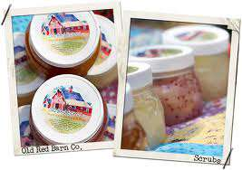 Old red barn company sugar scrub