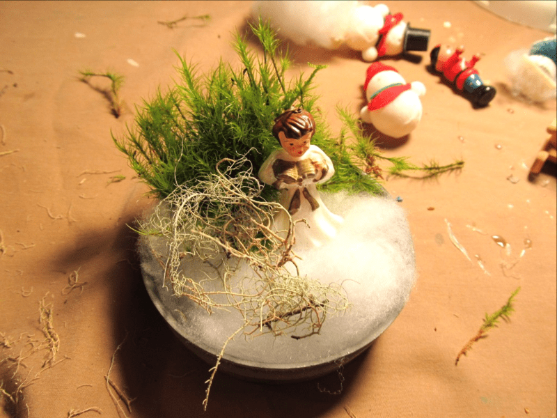 Moss christmas decorations