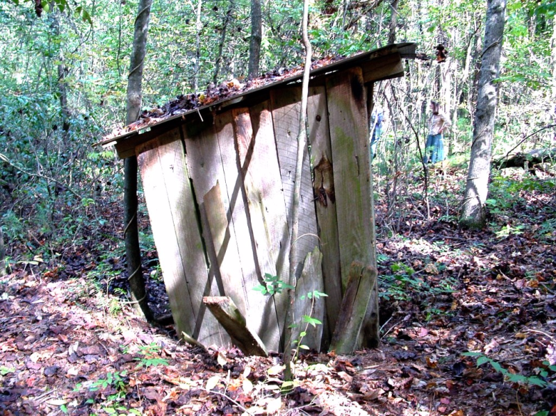 Old outhouse in western nc