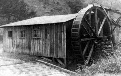 Waterwheel - William Calvin, Elizabeth Jane Welch place from Don Casada
