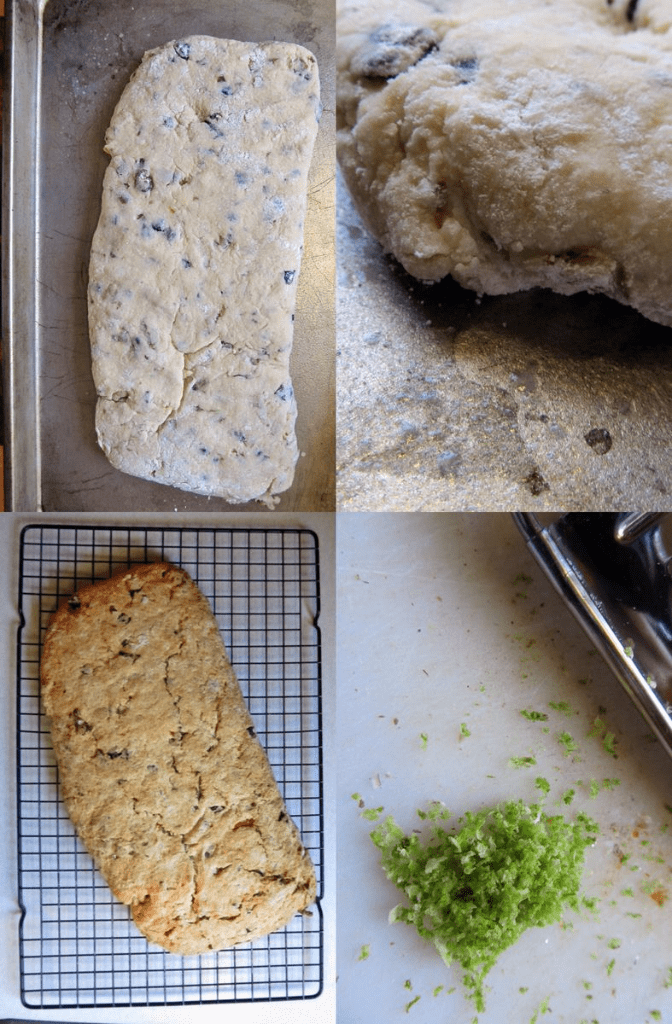 Making stollen for christmas