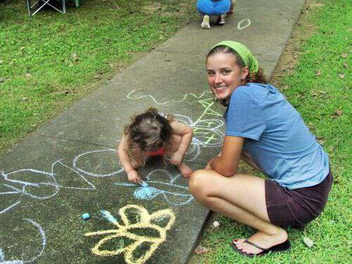 My life in appalachia sidewalk chalk = fun