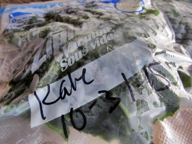 Freezing kale how to