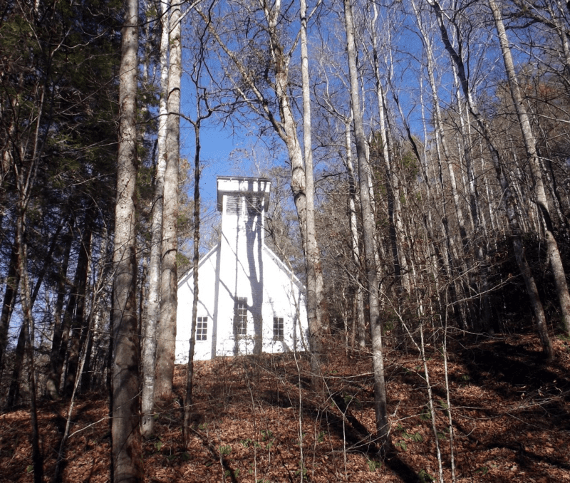 Oconaluftee church smoky mtn park