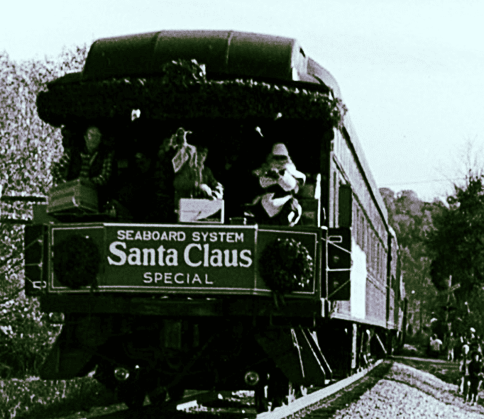 Santa train from kingston archives