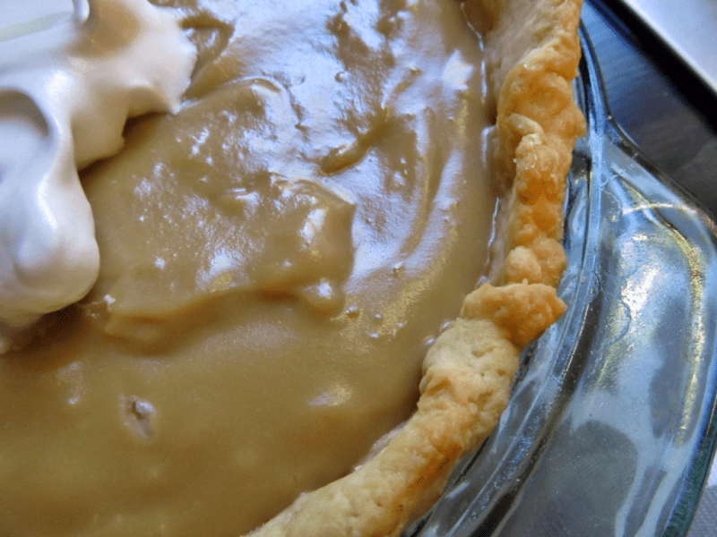 homemade butterscotch pie