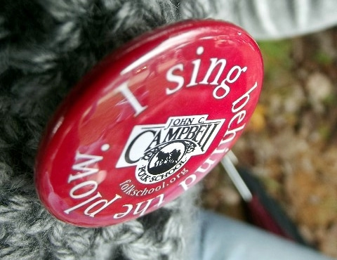 John C. Campbell Folk School Pin I sing Behind the Plow