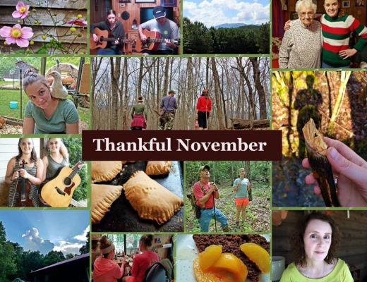 collage of photos thankful